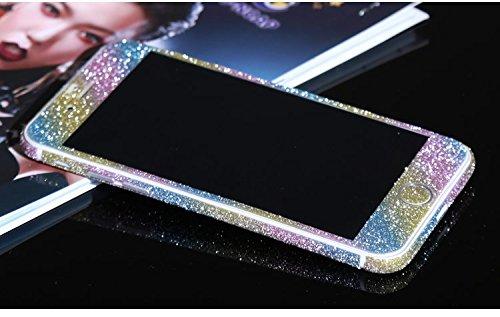FINOO Adesivo glitterato per iPhone - arcobaleno, iPhone 6/6S arcobaleno