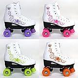 Kingdom Vector Rollschuhe mit 4 Rollen, damen Mädchen Kinder, fuchsia pink, 2 UK