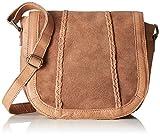 Pieces Pccameo Leather Cross Over Bag, Sacs portés épaule femme, Braun (Nature), 6x20x22 cm (L x H P)