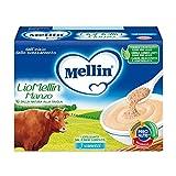 Mellin LioMellin Liofilizzati per Bambini, al Gusto Manzo - 3 Vasetti da 10 gr - Totale 30 gr