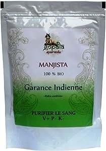 MANJISTA (Rubia cordifolia) BIO en poudre (100 g) - Plante Ayurvédique Traditionnelle purifier le sang