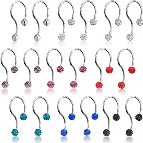 Flongo Boucles Oreilles Acier Inoxydable Symbole Infini Charme Elegant Fantaisie Bijoux Cadeau Couleur Rose Bleu Leger Argent pour Femme Rose