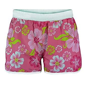 Ladies Floral Swimming Shorts in Pink L (UK 12)