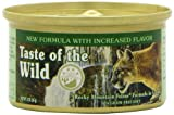 Taste of the Wild Canned Cat Food, Rocky Mountain Feline Formula in Gravy a Grain Free Diet (3 Ounce Cans) by Taste of the Wild