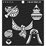 """thecraftshop CrafTreat Reusable Painting Template Stencil for Art and Craft, Mixed Media, Wall, Home Decor, DIY Albums, Card Making and Fabric Paintings (6""""X6"""")"""