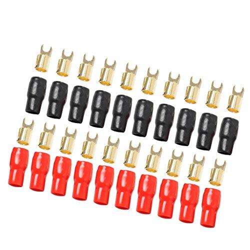 Sharplace 4 Gauge Power Draht/Erdungskabel Gabelklemmen/Ersatz Zubehör Fahrzeuge Kabelklemmensatz (4-gauge-erdungskabel)
