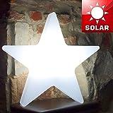 MIA Light Stern Solar Leuchte Ø400mm/LED/Modern/Weiß/Kunststoff/AUSSEN Lampe Deko Aussenlampe Aussenleuchte Bodenlampe Bodenleuchte Gartenlampe Gartenleuchte Solarlampe Solarleuchte
