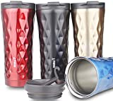Double Y 500 ML Insulated Vacuum Flask,Stainless Steel Travel Coffee Mug (Black-lxb)