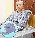 Schienale letto, ausilio mobilità degli invalidi Schienale regolabile per supporto ortopedico collo, testa e lombare, lega di alluminio e tessuto traspirante 68 * 9 * 54,5 cm