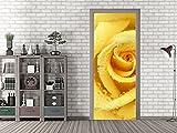 GRAZDesign 791231_92x213 Tür-Bild Gelbe Rose | Aufkleber Fürs Wohnzimmer | Türfolie Selbstklebend (92x213cm//Cuttermesser)