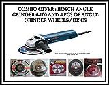 BOSCH Angle Grinder(Mini) GWS 6-100 Professional 670 Watts+ 5PCS OF WHEELS/DISCS