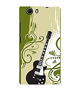 Floral Guitar 3D Hard Polycarbonate Designer Back Case Cover for Micromax Canvas Nitro 2 E311 :: Micromax Canvas Nitro 2 (2nd Gen)