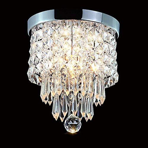 Zhang Yan ZYY Lampadari a LED a soffitto in Cristallo Lampade a soffitto di Lusso a LED Luci Portico Rotondo Corridoio a Filo, 2 luci, H10.4 '' X W8.66 '' per Camera da Letto Mini Bambino