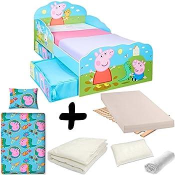 Ameublement Et Decoration Peppa Pig Lit Pour Enfants Avec Espace De Rangement Sous Le Lit Cuisine Maison Hotelaomori Co Jp