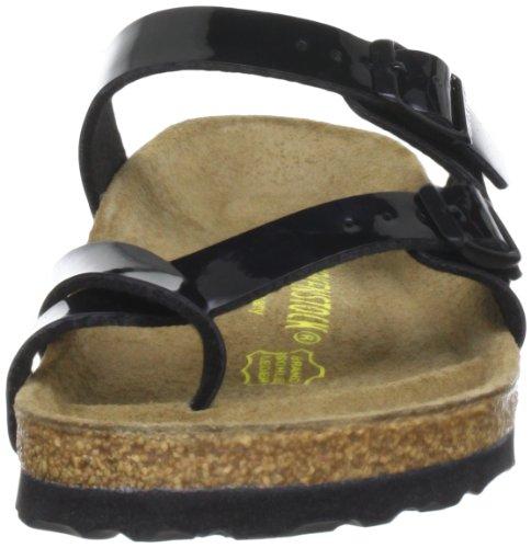 Birkenstock 071091, Sandales femme Noir (Schwarz Lack)