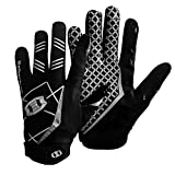 Seibertron Pro 3.0 Elite Ultra-Stick Sports Receiver Glove American Football Gloves Youth and Adult Black XL
