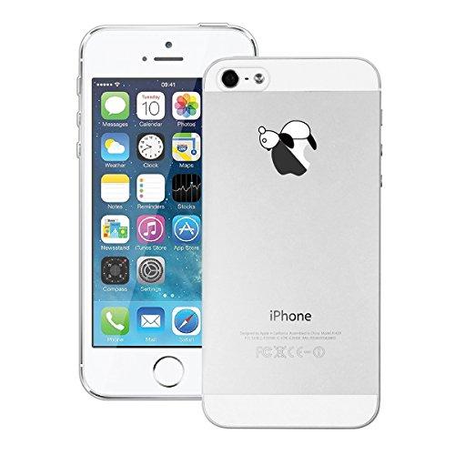 GrandEver iPhone SE 5S 5 Hülle Weiche Silikon Handyhülle Gel Transparent TPU Bumper Durchsichtig Schutzhülle für iPhone SE 5S 5 Rückschale Klar Handytasche Anti-Kratzer Stoßdämpfung Ultra Slim Rücksei Bauch Panda
