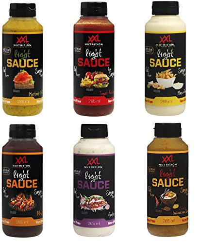 XXL Nutrition Light Sauce Test the Best Mix Box (6x265ml) - Kalorienarme Soßen mit echten Gemüse,...