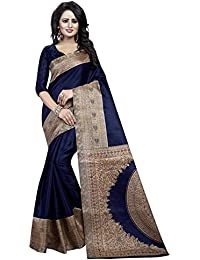 Traditional Fashion Women's Khadi Silk Saree With Blouse Piece (Tfs1344_Blue)