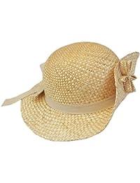 EveryHead Cappello Di Paglia Ragazze Bambini Paglietta Estate Spiaggia  Coneflower Da Vacanza Con Nastro E Fiori 1329ecf4f697