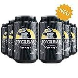 JoyBräu Proteinbier - Alkoholfrei - 21g Protein/Dose - Erfrischender Biergeschmack mit Zitrusnote - Mit 10g BCAA - Vegan (6/24x0,33l Dosen) (6)