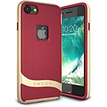 iPhone 7 Case - Snugg Slim Cover Protective Bumper [Cascade Series] Silicone TPU Skin [Luxury Design] Shockproof Hard Case for iPhone 7, Dusty Cedar Red