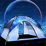 YuFLangel 3–4Doppel Camping Automatik Zelt Outdoor Doppel Multiplayer-Star Camping Zelt