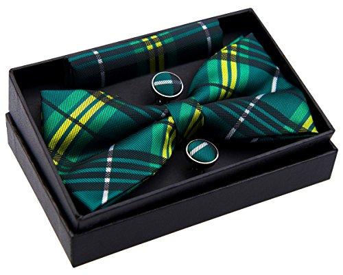 Elegante tejido tartán cuadros escoceses PRE-TIED