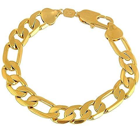 Life Time Garantie sejin sg1207W: 12mm 22,9cm 18K Gold Armband   verblasst nicht   Life Time Qualitätssicherung   Gold Kette   Vater