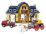 Funstones - Bausteine Bau Steine Pferde Hof Bauernhof Set + Kutsche + Traktor + Figuren + Pferde +++ Bau Steine