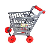 Segolike Mini Plastic Supermarket Shopping Hand Push Trolley Cart for Toddler/Baby Role Play Pretend Toy