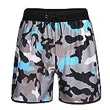 Dorical Hommes Shorts de Bain-Grande élasticité Imprimé Camouflage,Shorts de...