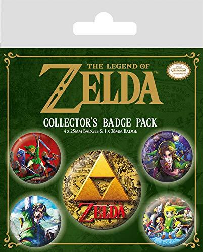 Pyramid International The Legend Of Zelda (Classics) pack de badge, Plastique, Multicolore, 10 x 12,5cm