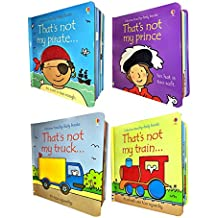 Thats Not My Boys Collection Usborne Touchy-Feely 4 Books Set (Thats Not My Train, Thats Not My Truck, Thats Not My Prince, Thats Not My Pirate)
