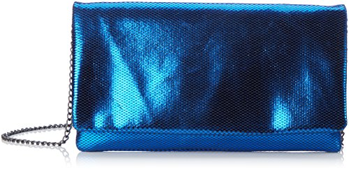 s.Oliver Damen 7f.709.94.4478 Umhaengetasche, 3x13.5x26 cm Blau (Blau Metallic)