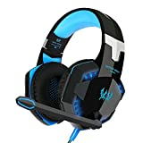 Cuffie Gaming per PC HQQNUO USB Gaming Headset Stereo Bass 3.5mm Cuffie da  Gioco LED 295364142649