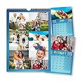 Calendrier personnalisable 2020 avec 12 photos, une photo par mois pour la famille, un jour de la semaine, un cadeau idéal pour les amis, la famille, Noël ou le nouvel an...