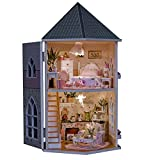 Rylai 3D Puzzle Wooden Handmade Miniature Dollhouse DIY Kit-Irish Romantic Country Series Beach House & Furniture Dollhouses 2017 X'mas Gift( 1:24 Scale Dollhouse)¡­