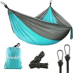 Newdora Hamac Ultra-Léger Respirant Portable en Nylon pour 1-2 Personnes Camping Randonée Voyage Jardin