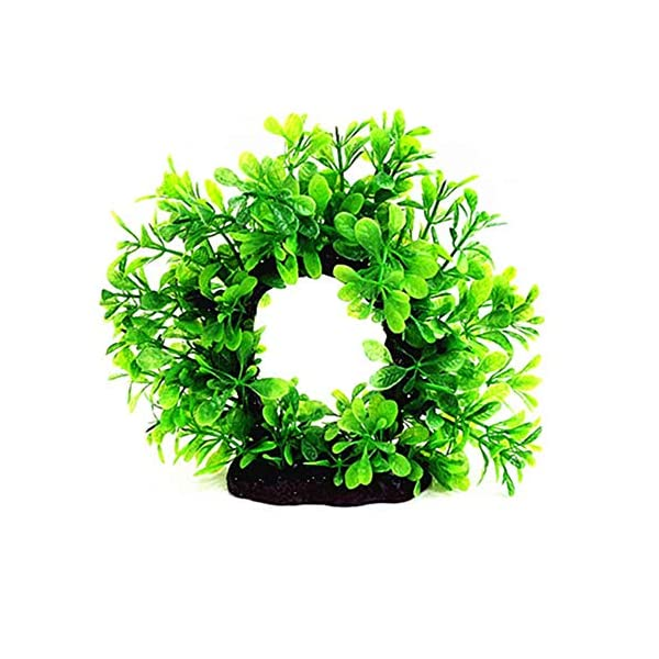 Roblue 12 PCS Plastic Fish Tank Plants Artificial Aquarium Aquatic Plants Realistic Water Plant for Aquariums Decorations