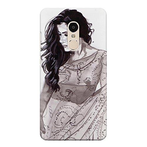 Kajol in saree sketch design Xiaomi Redmi note 4 all side printed...