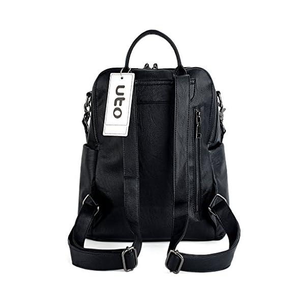 30b83850fd60 UTO Women Backpack 3 Way PU Leather Ladies Girls Rucksack Shoulder ...
