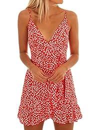 Vestidos Mujer Verano 2018,Las mujeres de verano vestido sin mangas de impresión de ropa casual playa vestido de fiesta LMMVP…