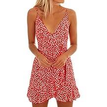 Vestidos Mujer Verano 2018,Las mujeres de verano vestido sin mangas de impresión de ropa