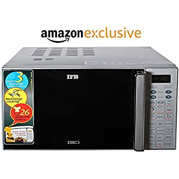 IFB 25L Convection Microwave Oven With Child Lock (25SC3, Metallic Silver)