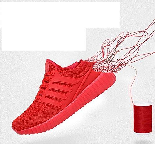 LDMB Women's Net Lady Laufschuhe Mode Outdoor Freizeit Cross Straps Schuhe 9630 red