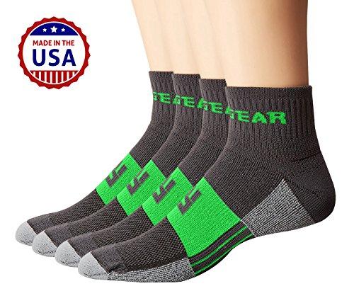 mudgear Trail Running Socken für Damen und Herren, Made in USA–2Paar Pack (Sport-socken Elasthan Läuft)