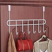 Everline Multi - Functional Steel Over The Door Wall Hook Rack - Black (7 Hook)