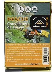 Elementerre RESCUE - Manta de rescate en materiales aislantes y que te protegen del frío, color argento / oro, talla 210 x 130