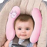 Vine Baby Auto Kinder Nackenkissen Reise Kissen Kopfkissen Nackenstütze Kopfkissen Nackenstützen für Kinderautositze Kinderwagen,Rosa